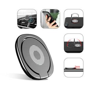 Новая роскошь 360 градусов металлический держатель для пальцев для смартфона для мобильного телефона держатель для пальцев для iPhone 7 6 Samsung Tablet с пакетом