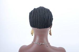 2017 дешевый бренд плетеный Cornrow парик Cap легко шить в сеточку для волос Glueless полный швейцарский кружева для парика плетеный парик cap 5 шт.