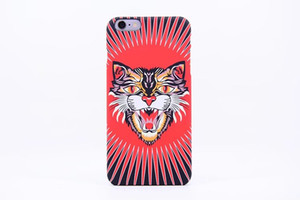 Padrão Marca Animais Leão Lobo Owl iPhone Para rígido de volta caso de telefone 6s caso Plus brilham no escuro luminoso Forest King pc