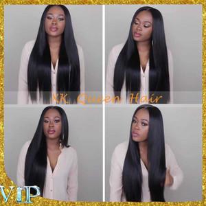 Weiche seidige gerade Silk Top Lace Front Perücken mit dem Baby-Haar Unverarbeitetes brasilianisches Jungfrau-Haar volle Spitze-Menschenhaar-Perücken-Vorrat