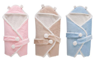 Alta Qualidade Cobertores para Crianças Cobertores Recém-nascidos sacos de Sono Do Bebê Sacos de dormir Berçário Cama Bebê Crianças Moletom Com Capuz Swadding Fleeces Livre