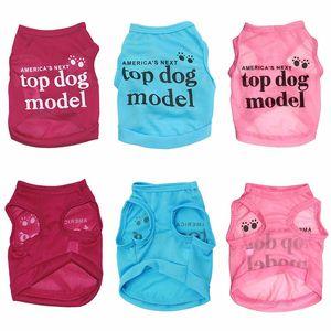 """Новый 1 шт. Летняя Мода Lovely """"America's Next Top Dog Model"""" Рубашка для собак Pet Жилет Одежда для животных Одежда для собак"""