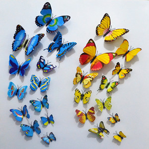 venta al por mayor 100 unids nevera imán mariposa de simulación