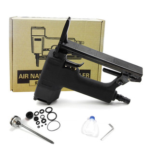 Spedizione gratuita pneumatica nail gun più lungo ugello liscia aria cucitrice vento strumento chiodo lavorazione del legno decorazione della casa pacchetto di cartone