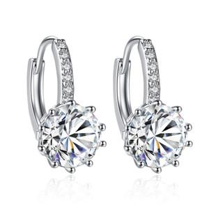 Pryme vente carré cristal goujon errings pour les femmes parti reine 10 couleur bijoux en gros