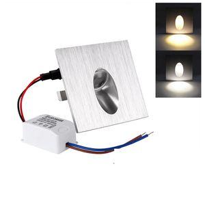 AC110-240V 3W 디 밍이 가능한 LED 벽 램프 Footlights 코너 빛 내장 된 계단 조명 단계 빛 야외 나이트 라이트 조명 CE UL