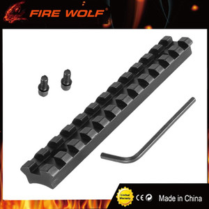 FIRE WOLF 12 ranuras 124.5 mm Tornillos Curva Rifle Alcance Picatinny Redondo Inferior 20 mm Weaver Rail Mount Base Instale la pistola