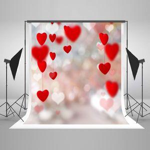 Kate Microfiber Dia dos Namorados Fotografia Backdrops Luzes de Amor Vermelho Crianças Aniversário Foto Fundo Glitter Cenário para o Fotógrafo