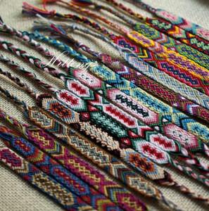 Designer gesponnenes Armband Sommer Armbänder Vintage Style Colorfu 1.5CM Breite Baumwolle Strick Unisex Freundschaft Bohemian Strand Armband Schmuck