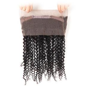 20 인치 브라질 인간의 처녀 머리 360 전체 레이스 헤어 제품 자연 블랙 / 제트 블랙 컬러 130 % denisty 레이스 확장