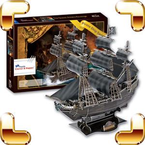 Новогодний подарок корабля серии The Black Pearl Пиратский корабль 3D Пазлы лодка Модель Puzzle Классический Vessel DIY игрушки