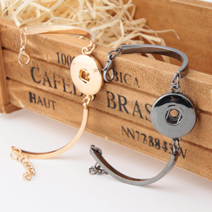 Fashion DIY Snap noosa Bracelets Jewelry Gold Silver Color Aolly Button wristband Bracelets For Snap Buttons