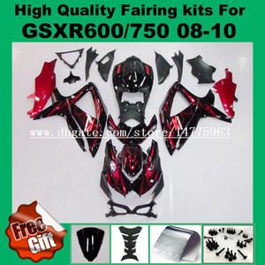Juntas de injeção para SUZUKI GSXR600 GSXR750 08 09 10 GSX-R600 GSX-R750 2008 2009 2010 GSXR 600 750 08-10 K8 kits de carenagem K9 + 9Gifts