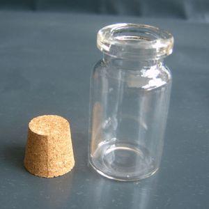 100pcs 4ML / 7ml cylindrique Flacon en verre Pendentif Mini Souhait Flacons miniatures Cork bouteille pour le bricolage bouteille Souhaitant collier