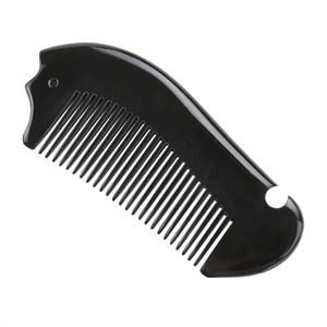 MAANGE Mode Naturel Noir Cornes D'eau Com Véritable Magique Brosses De Maquillage Pour Les Cheveux Outil De Style De Cheveux