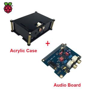 Freeshipping Raspberry Pi 3 HIFI Analog DAC Audio Board Modul I2S Schnittstelle + Schwarz Acryl Fall kompatibel für Raspberry Pi 2