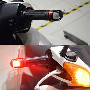 Lámpara de advertencia de luz de extremo de barra de agarre de señal de giro LED de manillar universal de motocicleta