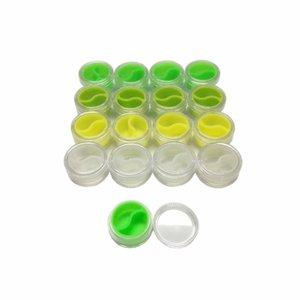 Recipiente de almacenamiento de contenedores de silicona Bho Antiadherente 3 ml de acrílico concentrado de contenedores para aceite Envase de silicona 50pcs / lot