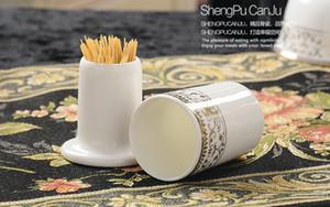 Hochwertiges Knochenporzellanständerrohr für Zahnstocher, keramische Hochzeitstischhalter, Zahnstocherhalter, für die Lagerung