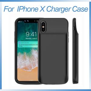 para iPhone X Batería 6000mAh Cargador portátil recargable extendido Funda para iPhone X 10 Batería protectora Estuche de carga