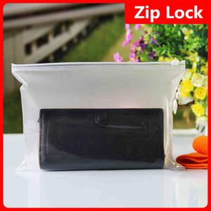 26x18cm Matt transluzente Kleidung Storage Zip Lock Kunststoff-Verpackungsbeutel Matte Clear Kleidungsstück Paket Kleid wiederverwendbare Organizer Pouch