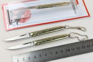 Promotion Chine Marque Wolf Petit couteau lame 440C 56HRC lame miroir polonais Keychain couteaux EDC couteaux de poche en plastique pack