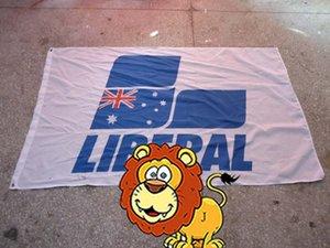 bandera liberal del logotipo de la marca del coche, bandera liberal, poliéster del tamaño 90X150CM, poliéster 100% 90 * 150cm, impresión digital