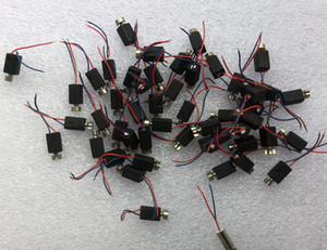 100pcs Motor de vibrador de baja potencia 4 * 8mm Mini motor de corriente continua 4 x 8 mm Buscaperos de vibración Micro motor vibratorio para teléfonos celulares juguetes Robot DIY