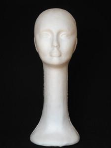 Freeshipping 1 PC cabeça manequim feminino Cap Balaclava Mask Cap Manequim de Espuma de Isopor Manequim ManequimModelo de Exibição Modelo Stand Peruca Óculos M00455