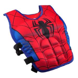Giacca Cartoon Bambini Life Vest Batman Spiderman nuoto rivestimento dei bambini Pesca Superhero Piscina trasporto libero degli accessori