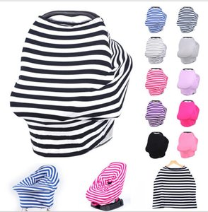 Baby Car Seat Cover Canopy Copertura per allattamento multiuso Stretchy Infinity Sciarpa Allattamento al seno Passeggini Carrello Copertura per tettuccio KKA2500