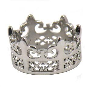 FANSSTEEL الفولاذ المقاوم للصدأ رجل أو إمرأة JEWELRY جلي QUEEN تاج حلقة SIGNET RING GIFT FOR LADIES GIRLS 12W33