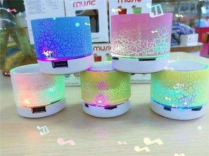 2017 мини портативный A9 треск текстуры Bluetooth динамик со светодиодной подсветкой можно вставить U диск, мобильный телефон плеер с розничной коробке