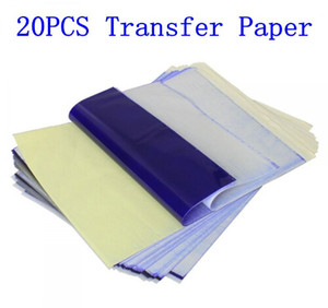 20Pcs Tattoo Stencil Transfer Paper A4 Size Thermal Copier Paper Supplies Tattoo Accessories For Tattoo Supply Free Shipping