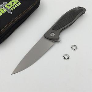 Зеленый шип F95 Флиппер складной нож D2 лезвие TC4 Титана углеродного волокна ручка открытый лагерь охота карманный фруктовый нож EDC инструмент
