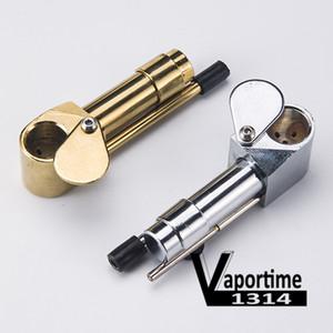 Ottone Pipe Proto tubo di alta qualità Posacenere ciotola del metallo portatile d'oro nastro Color Tool Herb fabbrica della Cina DHL 033