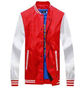 All'ingrosso- 2016 giacca riflettente Fashion Design Quick Dry Mens Slim Fit Giacca da baseball college Casual elegante giacca Varsity Jaqueta