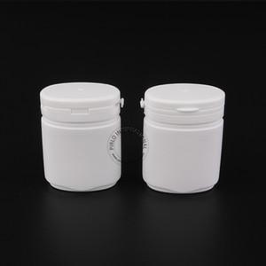 10шт х 80мл Белые пластиковые бутылки для жевательной резинки с отрывной крышкой 80мл Овальная форма ПП баночка для капсул / упаковок для таблеток
