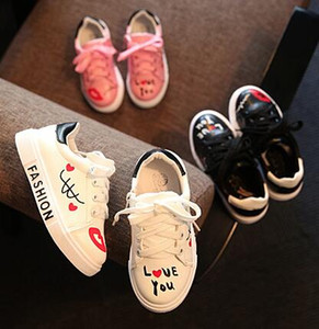 Child Sport Shoes Flower Girl Shoes Boys Girls Sneakers Spring PU Leather Sneaker Students sandals