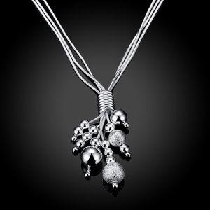 Wholesale silver jewelry women fashion necklac fashion move three wire bead necklace