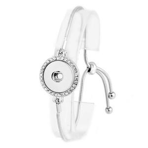 Botão Jóias Estilo Verão 18 milímetros botão Snap BraceletBangles prata banhado Cobra casamento Cadeia Pulseiras para mulheres