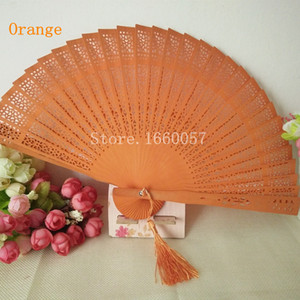 Chinese Style Wedding Favors Gift Fans Sandalwood Folding Cutout Wood Hand Craft Fan+ DHL Free Shipping