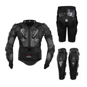 Motocicleta Equitación Armadura de protección Motocross Off-Road Enduro Racing Protector de cuerpo completo Chaqueta + Hip Pad Shorts + Almohadillas de rodilla
