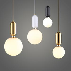 Lámpara nórdico Estilo Bola de cristal pendiente de la luz de una sola cabeza de la lámpara de cristal de la bola del accesorio del techo Diámetro 15cm / 20cm / 25cm