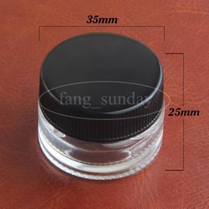 حاويات زيت الشمع Dab الشمسي الزجاجي الشفاف مركّزة على جرة زجاجية صلبة لتخزين مستحضرات التجميل بالشمع والسجائر