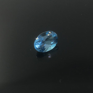 Promotion topa quality light blue natural topaz loose gem stone for ring earring or pendant 5 mm*7 mm weight is 0.6 ct fearless topaz stone