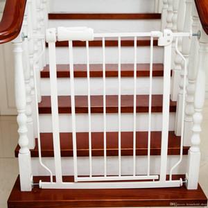 Baby Playpens Puerta para mascotas Cerca de la escalera Fácil Cerrar Puerta de metal Barreras de seguridad 76x71CM Proteger el bebé seguro Control de mascotas Configuración rápida