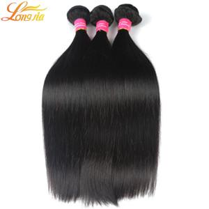 4 pcs / lot Extensions de Cheveux Top-vente 7A Brésilien Péruvien Indien Malaisien non-traité Virgin Hair Bundles Silky Straight Hair Trame Weave
