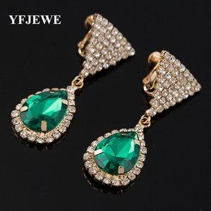 Boucles d'oreilles en cristal tricolore de mode pour femme accessoires de mode pour femme bijoux véritables gemmes décoratives populaires # E304