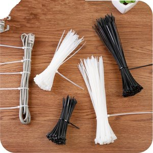 3 sizes 100pcs lot pack multifunctional black auto lock type nylon cable ties plastic cable ties strapping tape bag clip lock
